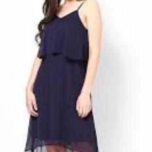 BCBG blue jade medium asymmetrical dress